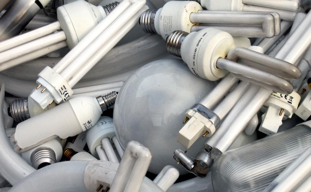 Lampor är vanligt hushållsavfall